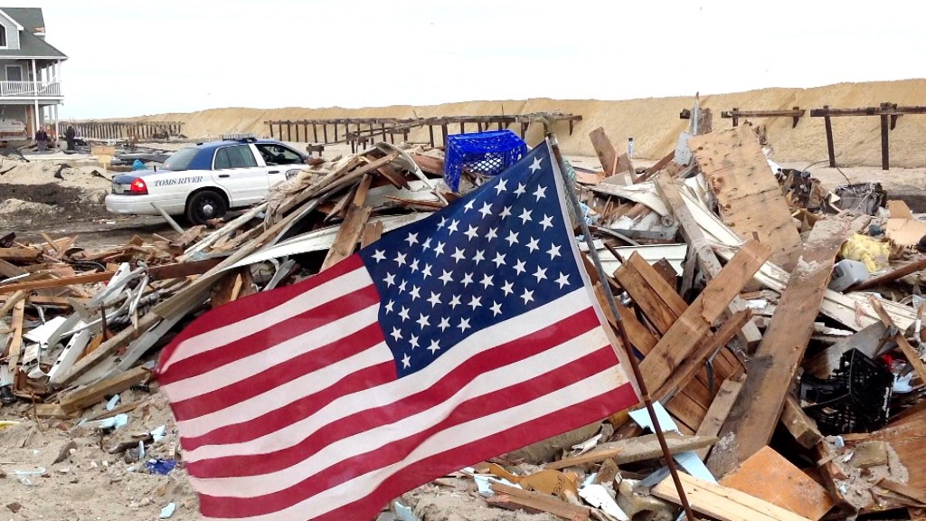 drapeau américain devant de